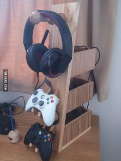 Awesome headset and controller rack