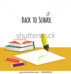 Back to school, vector illustration,EPS10 - stock vector