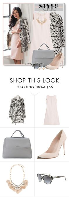 """""""Blush Sheath Dress & Leopard Print Coat"""" by brendariley-1 ❤ liked on Polyvore featuring Agnona, Orciani, Alexander McQueen, Accessorize, Michael Kors and Cabinet"""