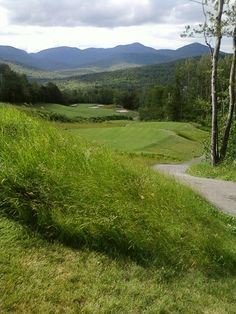 From the 12th tee at Sunday River Golf Course