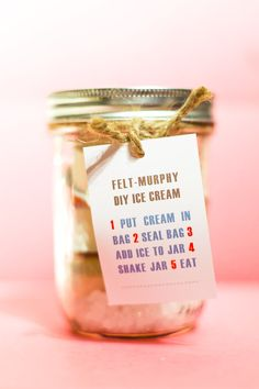 DIY ice cream favors #weddings #diy