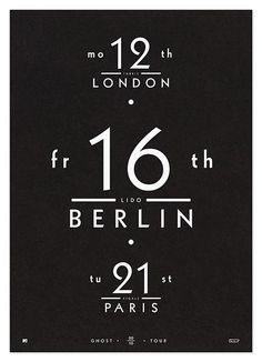 #houseoftype | London Berlin Paris Poster