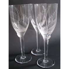 Lalique - My mother has a full set of these gorgeous glasses, but in the champagne flute style.