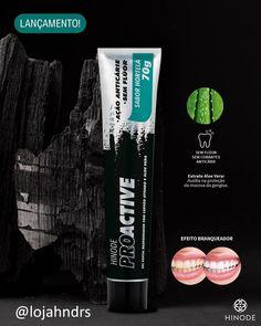 Seu sorriso mais branco com ProActive! A linha Pro lança o gel dental que possui em sua fórmula Carvão Ativado e Aloe Vera, e que devolver o branco natural dos dentes sem agredir a gengiva. É ideal para usar todos os dias na sua higienização bucal. #hinode #hnd #geldental #proactive #dentesbrancos #aloevera #carvaoativado #higinebucal #bemestar #saude #dentessaudaveis #lojahndrs Aloe E Vera, How To Get, Ads, Instagram Posts, Natural, Remover, Design, Style, Beauty Supply Store