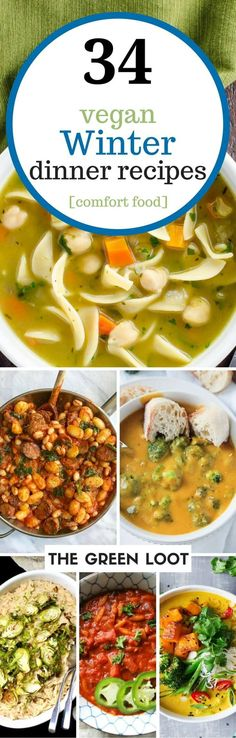 Vegan winter recipes and healthy comfort food that will warm up your body and soul. From simple root vegetables to white beans, make these tasty dinners! | The Green Loot #vegan #comfortfood