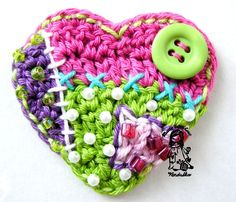 ::: Free Form heart so neat. I want to try this. Lorr