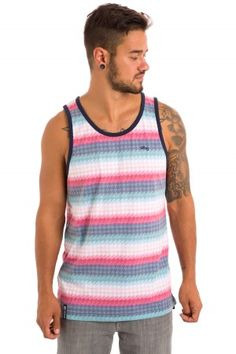LRG Bright Side Tank-Top (navy) | #skatedeluxe #sk8dlx
