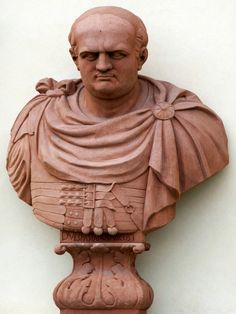 Bust of Vespasian on the garden facade of the Wilanów Palace by Bartholomeus Eggers, 1680s, commissioned by John III Sobieski