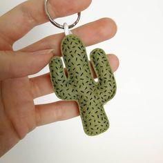 Mini Cactus, Bunny Ear Cactus, Cactus Keychain, Felt Keychain, Felt Embroidery, Hand Embroidery Designs, Embroidered Cactus, Handmade Keychains, Felt Crafts Diy