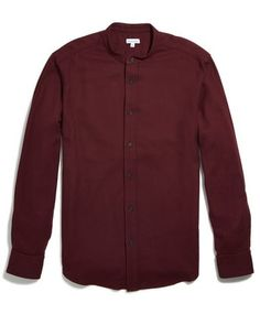 Band collar shirt.
