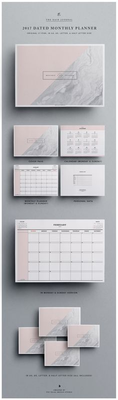 Printable 2017 Dated Monthly Planner, Wall Planner or Desk Planner that's great for small business owners or bloggers. Get it @ out Etsy Shop: http://etsy.me/2m3pv4c