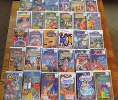 Classic Walt Disney VHS Movies (lot of 30) - New and factory sealed