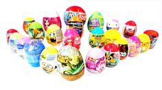 Easter Edition Surprise Eggs Spider-Man Robocar Barbie SpongeBob Super M...