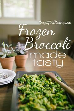 Ever been at a loss as to what to use for a vegetable side dish? Roast your frozen broccoli in the oven for amazing results! Frozen Broccoli Recipes, Roast Frozen Broccoli, Brocolli Recipes, Vegetable Recipes, Vegetable Salad, Fresh Broccoli, Easy Delicious Recipes, Tasty, Healthy Recipes