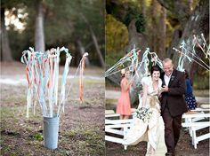 Streamers, glitter, lavender, confetti, bubbles, sparklers.. make your entrance or exit memorable and PERFECT for photos :)