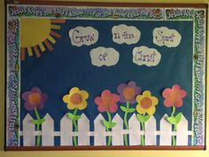 Spring Classroom Door Preschool Jesus 31 Ideas For 2019 Religious Bulletin Boards, Bible Bulletin Boards, Christian Bulletin Boards, Summer Bulletin Boards, Preschool Bulletin Boards, Toddler Sunday School, Sunday School Classroom, Classroom Door, Attendance Chart
