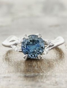 Adamaris: Nature-Inspired Sapphire Engagement Ring | Ken & Dana Design