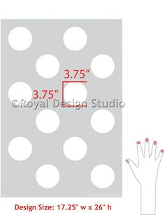 Paint your walls with cute polka dots and circle shapes - Royal Design Studio wall stencils