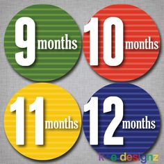 Baby Monthly Stickers Milestone Monthly Stickers Boy by KEDesignz