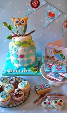 FunFavors Events: Thursday Parties: Owl's theme {Boy} Dessert Table