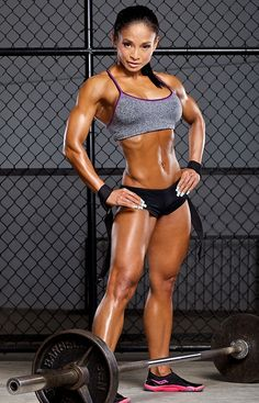 Filipina IFBB figure competitor, fitness model and certified personal trainer Meriza DeGuzman Ciccone