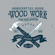 6 Vintage Carpentry Badges on Behance