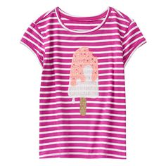 Girl Fuchsia Stripe Popsicle Tee by Gymboree