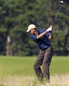 Oh, we really need a president that spends more time playing golf than improving the country, huh?