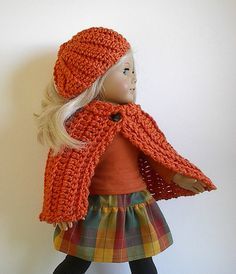 American Girl Doll Clothes  Halloween Cape and by Lavenderlore, $16.00