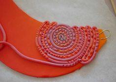 Collar de arcilla de polímero instrucciones schnugis.net la Fimoseite!