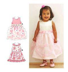 Kwik Sew Pattern 3528, Baby's Dresses, sizes 6M-24M