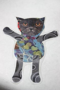gray smushed face kitty by kittykittycupcake on Etsy, $5.00