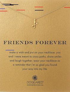 11 Meaningful Necklaces with Beautiful Messages Friends are for forever. Token of friendship. Small gift for best friend. 8 beautiful necklaces with a meaningful message. Meaningful Necklace, Smiles And Laughs, Best Friend Gifts, Friends Forever, Small Gifts, Beautiful Necklaces, Arrow Necklace, Friendship, Finding Yourself