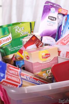 Sending a college care package is one way to let your child know you're thinking of them. Everyone loves receiving gifts in the mail and college students are no exception. Here are a few ideas to include in a college care package...