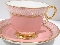 Royal Adderley Tea Cup and Saucer, Pink Tea Cup, Teacups Antique, Vintage Tea…