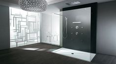 If you are thinking about remodeling your bathroom, Luxury Bathrooms presents 10 amazing modern glass shower enclosure ideas that you should see. Modern Bathtub, Modern Shower, Bathroom Lighting Design, Modern Bathroom Design, Steam Showers Bathroom, Small Bathroom, Glass Showers, Bathroom Ideas, Shower Ideas