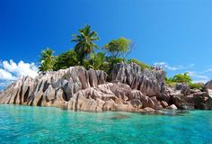 Seychelles - St.Pierre island on Cote d'Or bay