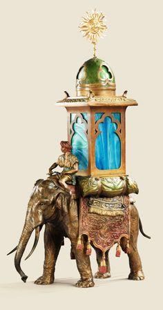 Antique Elephant Lamp | ELEPHANT-Lamp by Franz Bergman More