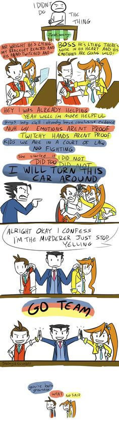 he's lying by ShinyVulpix. <<< It's funny because it's confirmed that Wright doesn't have a license.
