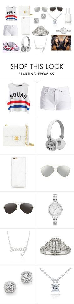 """""""Squad!!!!!"""" by breezybrebre on Polyvore featuring beauty, Chicnova Fashion, Retrò, Barbour International, Chanel, Master & Dynamic, Linda Farrow, Kate Spade, Belk & Co. and Bloomingdale's"""