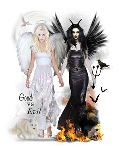 """""""Angels & Demons"""" by tracireuer on Polyvore featuring art"""