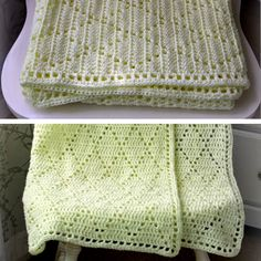 Diamond Stitch Baby Blanket - Free Pattern                                                                                                                                                                                 More