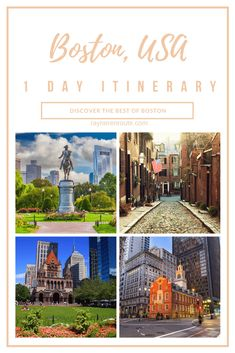 Want to visit Boston but short on time? This itinerary will help you plan an action-packed day in Boston. After breakfast, hit the Freedom Trail and Boston Tea Party and visit the ships and museum. Explore bookshops, Faneuil Hall, Quincy Market, Harvard, and tour Fenway. #boston #bostontitinerary #onedayinboston #usa #harvard #freedomtrail #thingstodoinboston Vacation Places In Usa, Vacation Spots, Places To Travel, East Coast Usa, East Coast Travel, Travel Guides, Travel Tips, Visit Boston, Boston Travel Guide