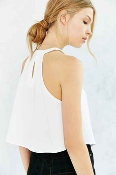 Silence + Noise High-Neck Crossover Cami - Urban Outfitters