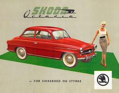 1959 Skoda Octavia Retro Ads, Vintage Ads, Auto Girls, Vw Group, Car Brochure, Car Posters, Car Advertising, Car Brands, Old Cars