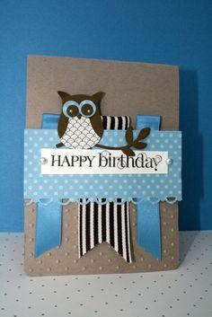 Birthday Card Idea - Like The Fold Of The Ribbons
