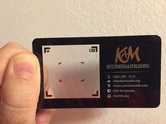 A photographer's unique black plastic business card. Examples Of Business Cards, Business Cards Online, Unique Business Cards, Business Ideas, Plastic Business Cards, Photography Business Cards, Letterpress Business Cards, Thing 1, Plastic Card