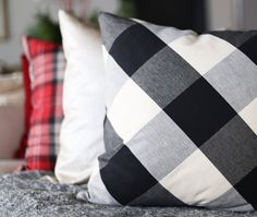 Buffalo check pillow with friends by @tonicliving - click to buy or learn more.
