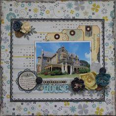 "Pink Paislee ""Indigo Blue"" range. Abercrombie House **April DT work** - Layout Gallery"