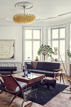 This Stunning Euro Apartment Keeps Its Classic, Goth Beauty #refinery29  http://www.refinery29.com/design-milk/13#slide2